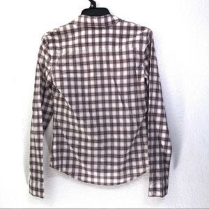 James Perse Tops - James Perse Standard Tomboy Soft Plaid Button-Down